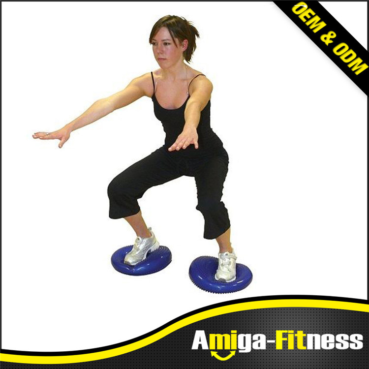 Indoor activity Inflated Stability Wobble Cushion, Including Free Pump / Exercise Fitness Core Balance Disc