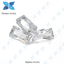 factory price cubic zirconia loose gems synthetic white rectangle shape cz stone