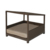 Latest dog pet products outdoor waterproof wicker luxury large bed for dog