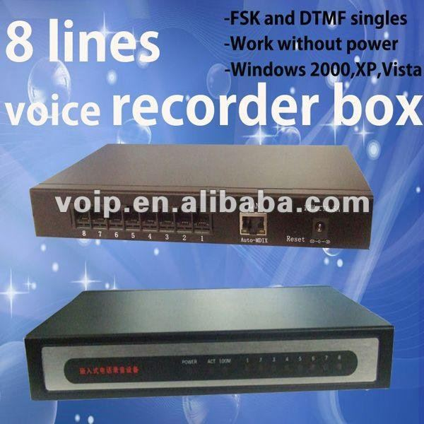 High quality 8 line voice recorder digital video recorder telephone call recording device