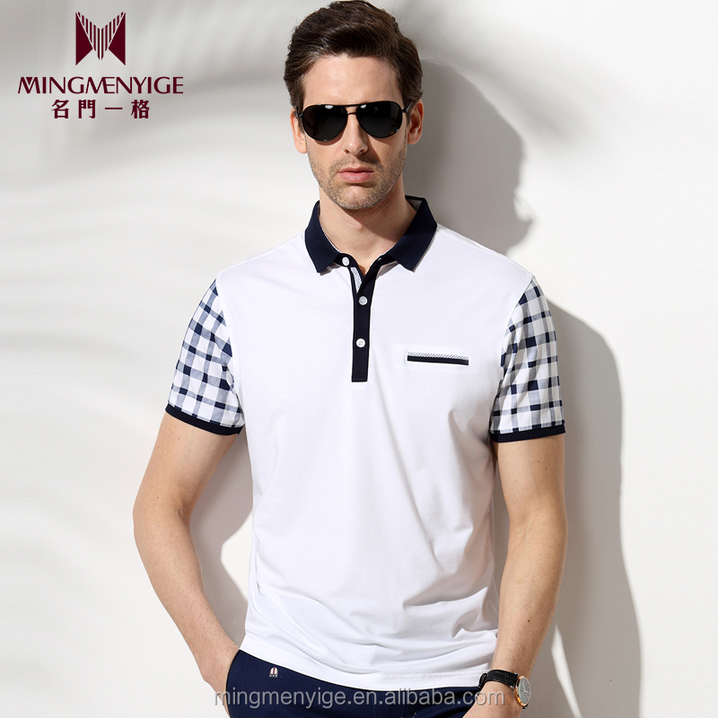 Fashion Style Polo Men Cheap White T Shirt Design Specifications