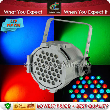 DMX 36pcs 1/3W Led Par Light Stage Lighting White Housing