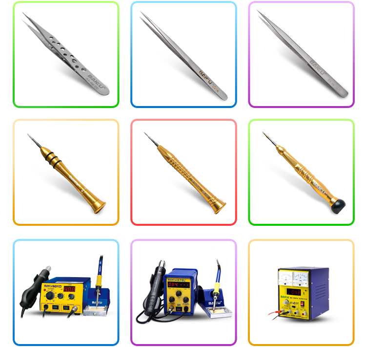 Mini BAKU BK-212 high quality 12 in1 mobile phone housing plastic open tools