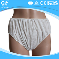 Disposable PP non woven underpants with different colors and sizes