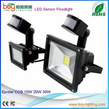 PIR ip65 motion sensor led flood ,led reflector moving motion sensor 230v flood