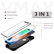 2018 Newest ! HD Clear Mobile phone protective film tempered glass screen protector tempered glass film for iPhone X 10