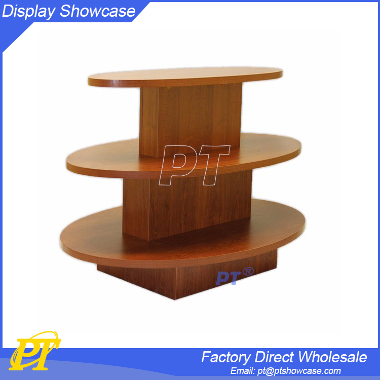 Round wooden pallet shoe rack,shoe bag store display fixtures