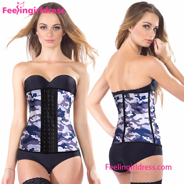 Hot Sales Perfect Body Sculpting White camouflage Sexy Corset Bustier