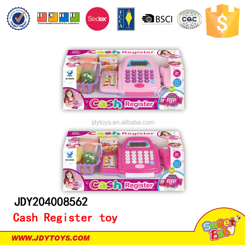 2015 New items Plastic Electronic Cash Register electronic toy cash register