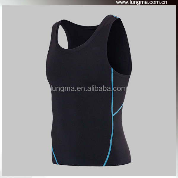 Polyester Summer Running Compression Tank Top, Tatto Compression Garments, Elastic Sleeveless Rash Guards