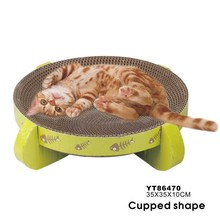 Cupped Shape Corrugated Cat Toy