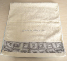 100% cotton greek border towels bath set face towels