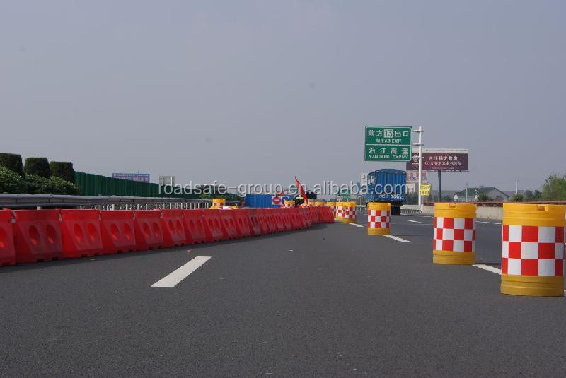 PE Colorful Plastic Road Water Filled Barrier