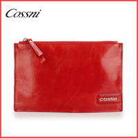 Plain Red Color Genuine Leather Clutch Bag For Shoes And Matching Clutch Bag In Best Price