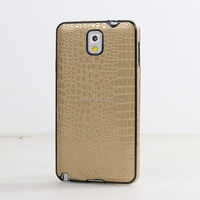 Popular Soft Crocodile Pattern TPU&PU Back Case For Samsung Galaxy Note 3 N9000
