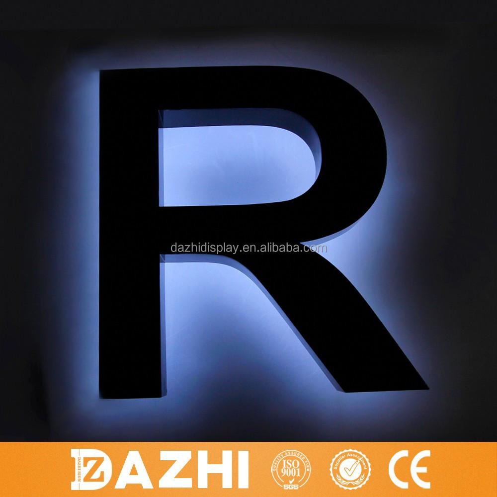 2015 hei er verkauf outdoor led hintergrundbeleuchtung logo zeichen metall brief outdoor. Black Bedroom Furniture Sets. Home Design Ideas