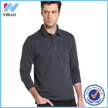 Yihao 2015 high quality men cotton long sleeve polo shirts wholesale cheap t shirt