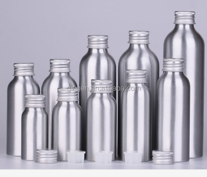 Wholesale Aluminum Bottle for water/cosmetics/beer 50ml 100ml 250ml 300ml