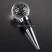 Crystal Golf Ball Wine Stopper MH-LP0179
