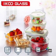 Air Tight Seal Glass Food Containers