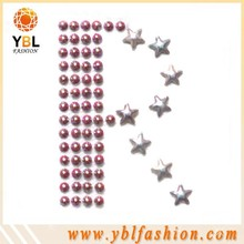 color ab shining studs rhinestone iron on letters