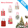 Handmade Cotton Linen Eco Reusable Shoulder Bag Christmas Trees
