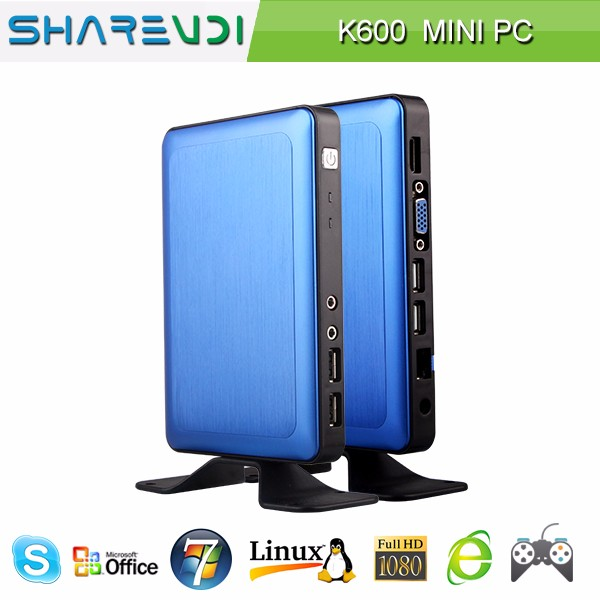 car pc 7 inch screen wifi xp thin client K600 blue alumnium alloy case 2GB 32GB