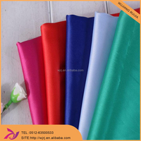high quality smooth hand feeling polyester satin fabric
