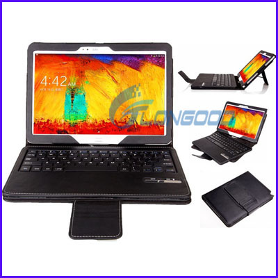 Removable Bluetooth Keyboard Leather Case For Samsung Galaxy Note 10.1 / P600 (2014 Version)