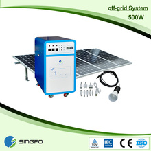 New design, Complete 500W solar panel system with battery and inverter