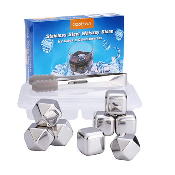 Best Seller Recyclable Stainless Steel Whiskey Stones , Wine Ice Cubes