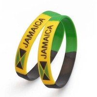 Promotional Mixed Color Blank Rubber Wrist
