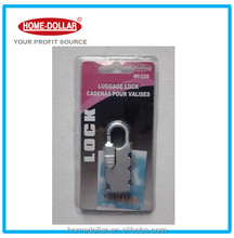 Silver color combination padlock with 3 digital keys