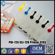 Office equipment refillable ink tank diy CISS for Canon PGI-725 CLI-726 printer CISS