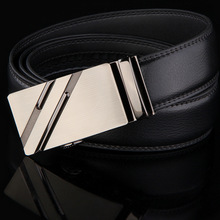 leather belts for men automatic buckle ratchet slide belt