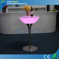 Rechargeable Color Change Plastic Illuminated LED Bar Furniture/LED Hotel Furniture/Used commercial bar sale