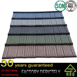factory selling popular Waviness Stone Coated Roof Tile / Aluminum Zinc Roofing Shingle / Colorful Sand Coated Steel Roof