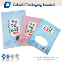 High quality colored zip lock plastic bag/customized flat bag food grade for snack