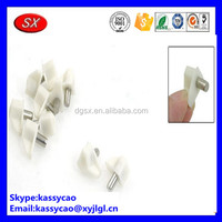 White plastic cap B font alloy/aluminium glass shelf pins with competitive manufacture price