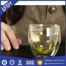 20oz high quality food grade hot sale colormate double wall glass drinking cup with silicone sleeve