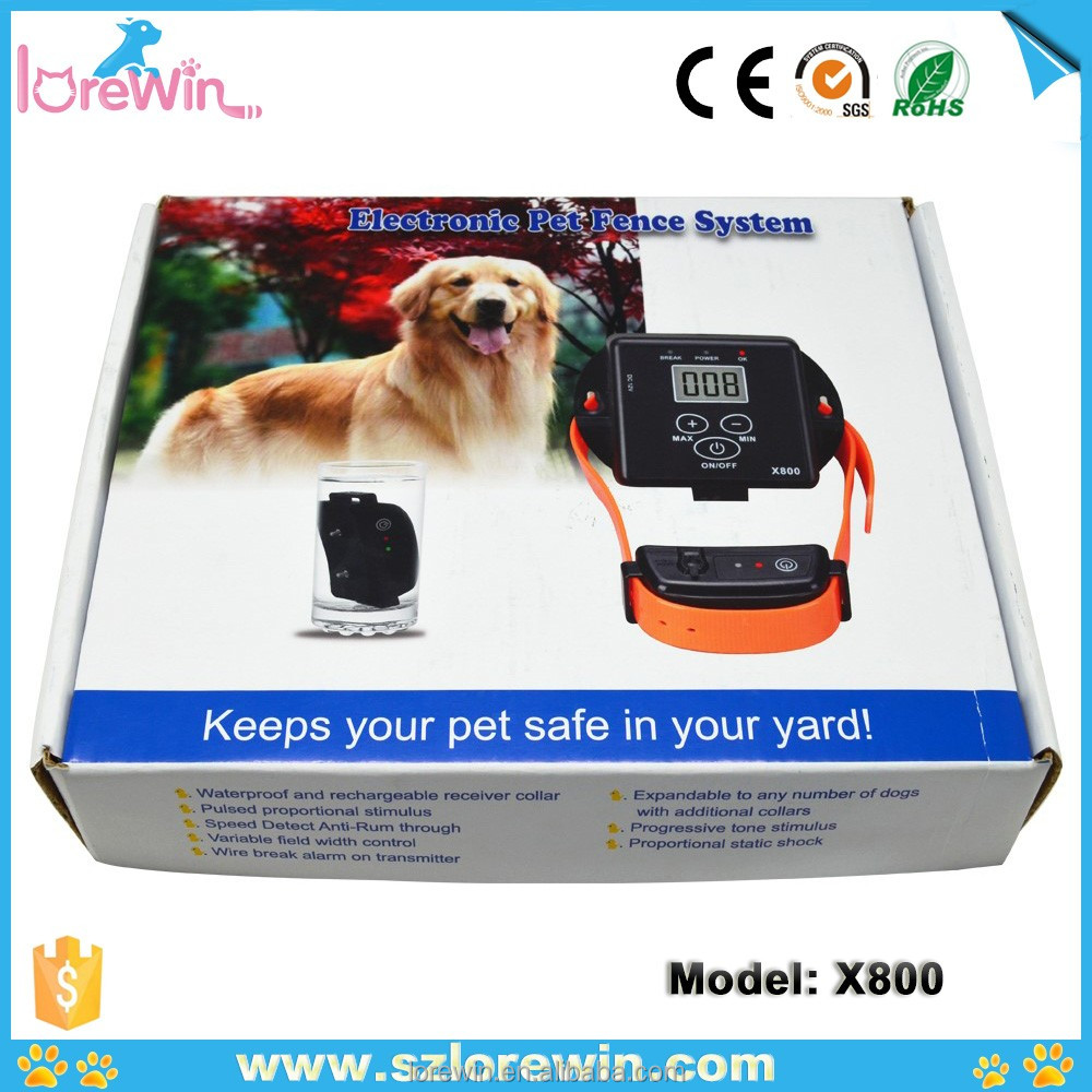 Lowest Price New Adjustable Waterproof Underground Shock Electric Fence Receiver Collar Pet Dog Training Collar X-800