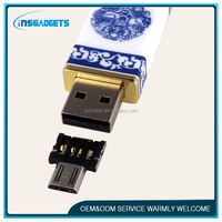 adapter plug PNLF014 wholesale micro usb to usb 2.0 robot otg adapter mini micro otg adapter