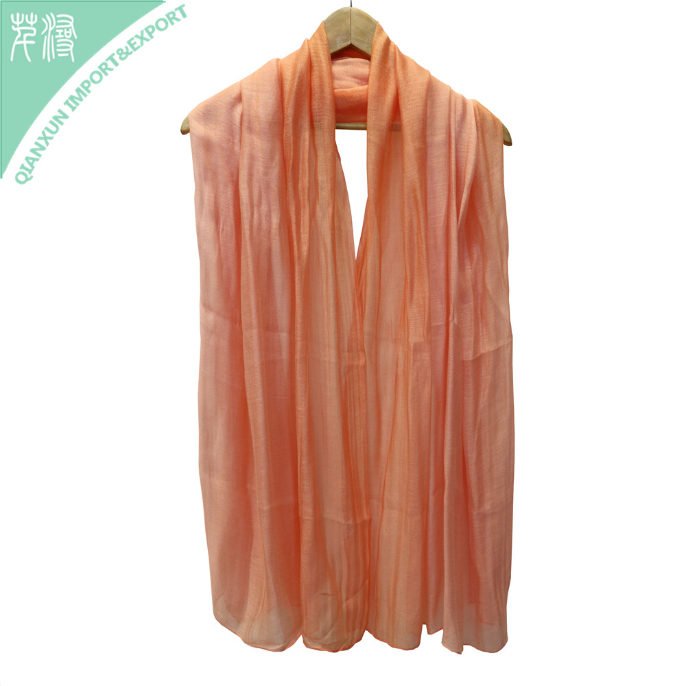 SC-131068 Orange Solid Color Silk Scarf 2018 Spring Summer Scarf