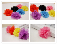 Baby Hair Flower cheap chiffon corsage full size set customerize YMAF6-2