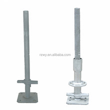 Fixed steel scaffold adjustable screw Jack base for construction