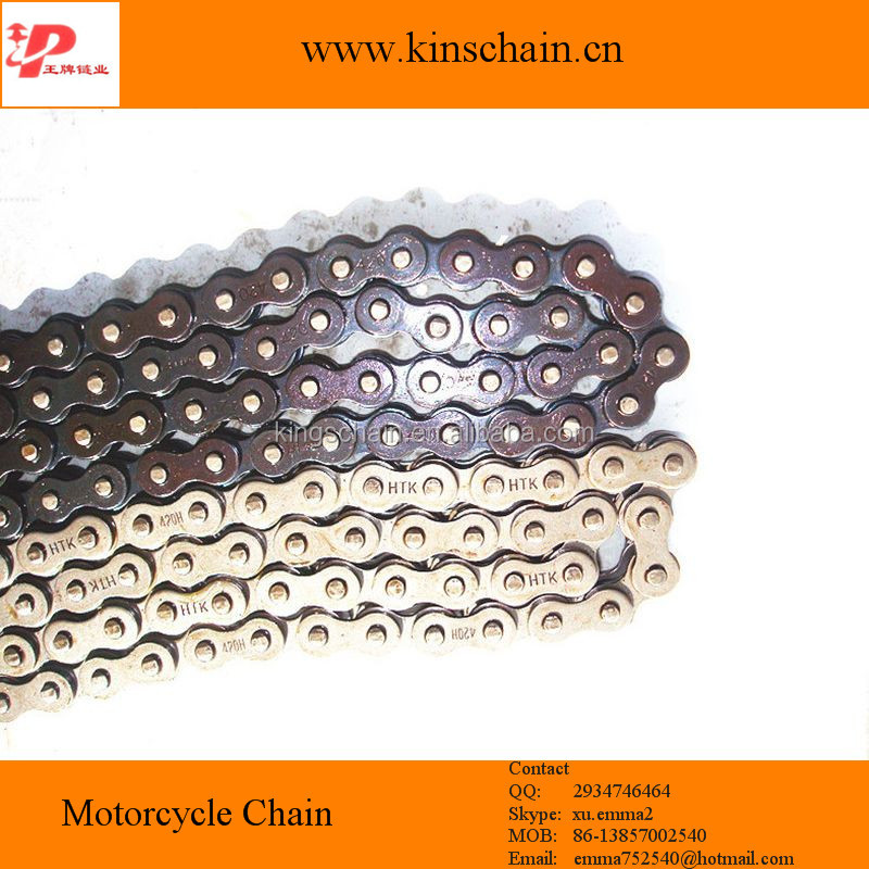 40Mn steel blue color motorcycle chain china
