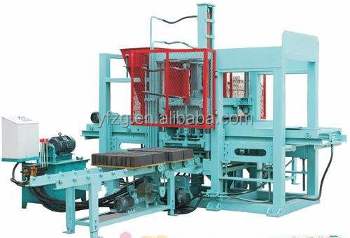 QT3-35 cement hollow block brick making machine roof tile interlocking paver brick machinery for sale