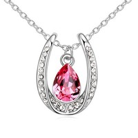 Original Austrian crystal necklace Made with SWAROVSKI ELEMENTS heart pendant necklace new arrival for 2015 Mother's Day gift
