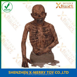 X-MERRY LIFE SIZE Cloth Wrapped Standing Human Mummy Prop Skull Halloween Decoration