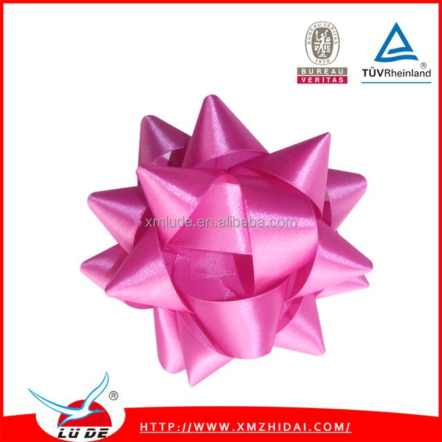 Manufature Foil Metallic Gift PP Ribbon Mini Christmas Star Bow
